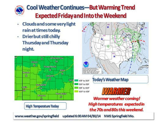 Cool Today But Warmer Weekend On The Way