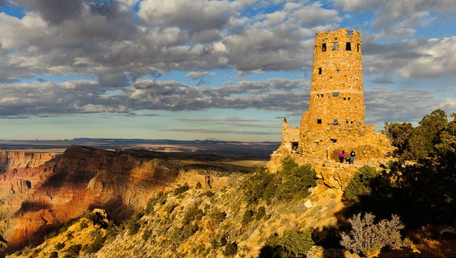 Mary Colter wanted to recreate an Anasazi watchtower with her magnificent building at Desert View at the Grand Canyon.