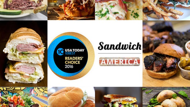 Check out which sandwiches took top honors in the second round of Sandwich America and 10Best Readers' Choice contests.