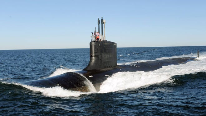 The USS Indiana, a Virginia Class attack submarine similar to the one pictured here, will be the first commissioned ship bearing the state's name in more than 75 years.