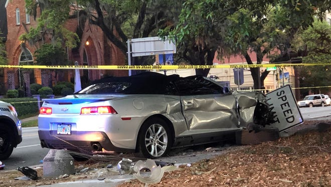 A suspect being pursued by Tallahassee Police died after crashing his car at the intersection of Monroe and Tennessee streets on March 27.