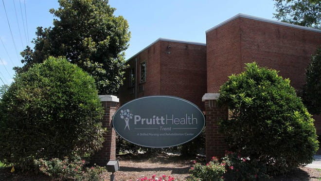 PruittHealth - Trent, a skilled nursing and rehabilitation senior living center, is located at 836 Hospital Drive in New Bern, NC.