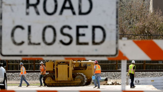 Roadwork is ongoing in Fort Collins.