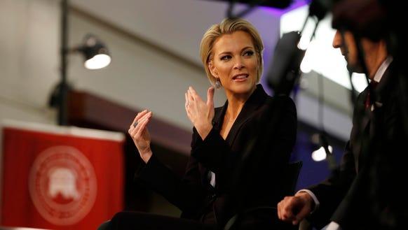 Megyn Kelly prepares prior to a Republican debate.