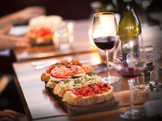 Postino WineCafe's happy hour is known for its bruschetta-wine combo.