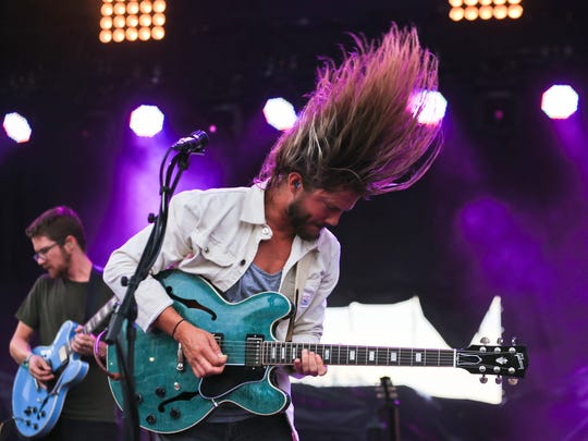 Trevor Terndrup of Moon Taxi jams during the band's