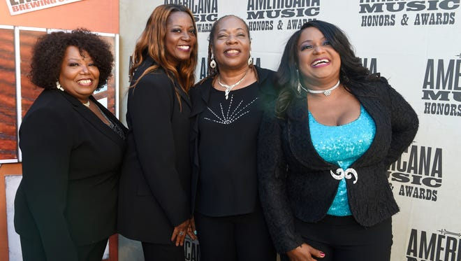 The McCrary Sisters on the red carpet at the 2016 Americana Music Honors and Awards Show at Ryman Auditorium Wednesday, Sept. 21, 2016, in Nashville, Tenn.