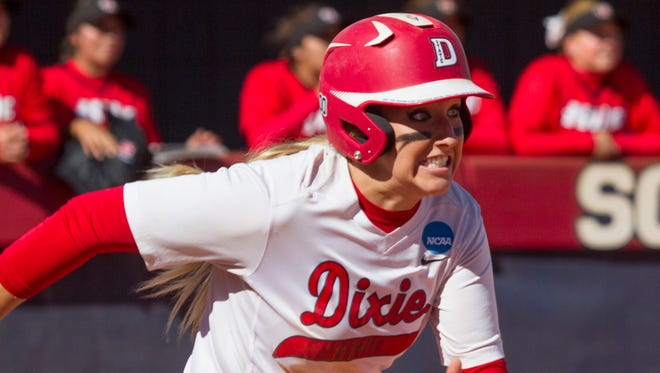 Dixie State won its 14th game in a row and did so in thrilling fashion against Hawaii Hilo Wednesday night at Karl Brooks Field.