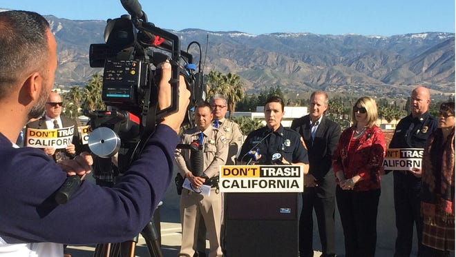 Multiple agencies recently held a press conference urging people not to litter in area mountains. The warning comes as tourism season kicks off across the southland.