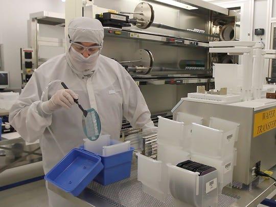 Daniel Cunningham of Bloomfield, a CVD Process Technician,