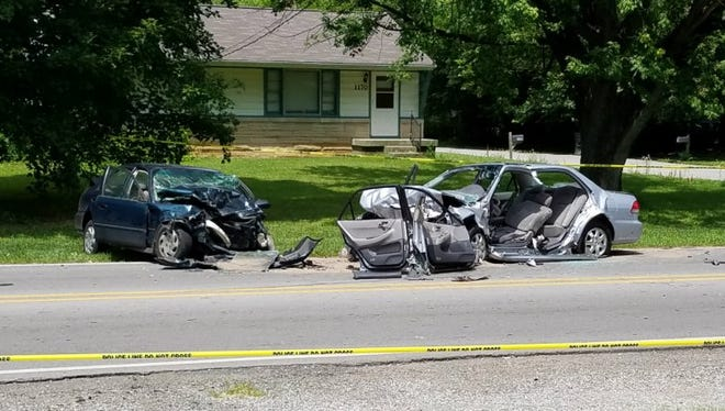 Picture from scene of fatal crash on July 4, 2017.
