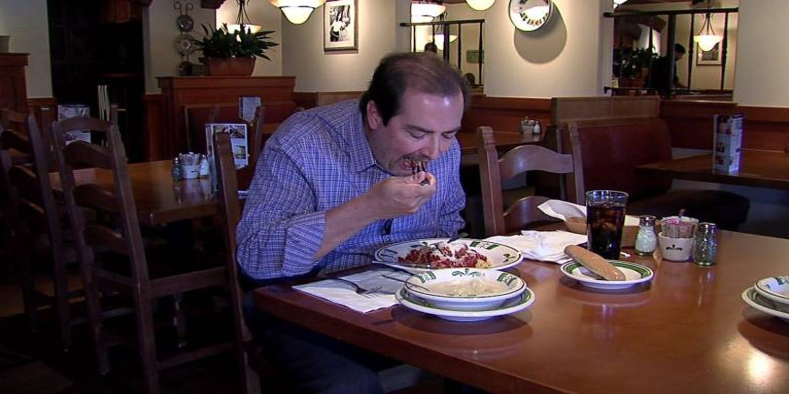Man eats 95 olive garden meals in 6 weeks - Does olive garden deliver to your house ...