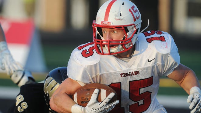 FILE - Was Center Grove RB's Max Norris' long TD run the play of the week?
