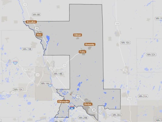 Minnesota House District 15B Map.JPG