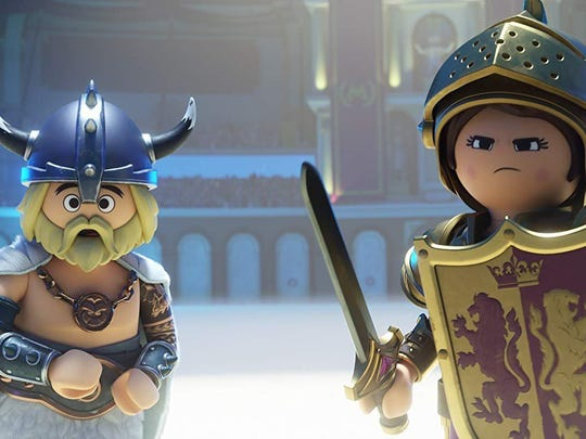 "Gabriel Bateman and Anya Taylor-Joy supply the voices of Charlie, left, and Marla in ""Playmobil: The Movie."""