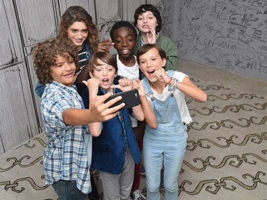 """Stranger Things"" cast members (from left, Gaten Matarazzo,"