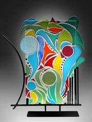 Port Charlotte fusion-glass artist Josephina Espinosa will appear at the Coconut Point Art Festival from Feb. 17-18.