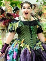 """Dana Stout, who created """"Posie the Fairy,"""" out of the annual May Day Fairies Festival, said after 27 years, the grounds have become engulfed in glitter. (Submitted)"""