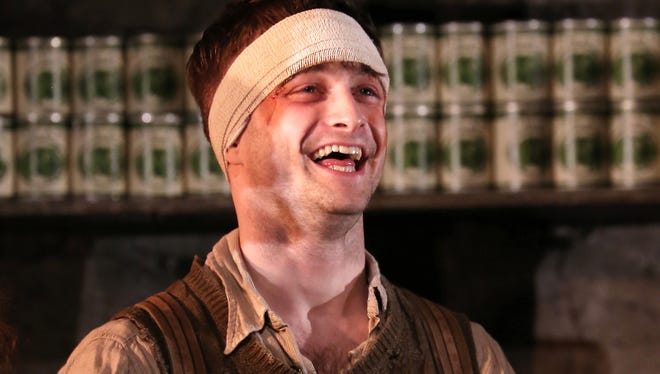 """Daniel Radcliffe received critical acclaim, but not a Tony nomination, for """"The Cripple of Inishmaan."""""""