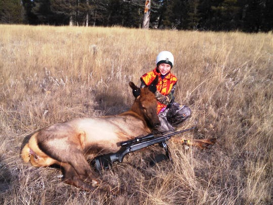 On the second day of last year's big game season, Jenna Rahn took down this elk.