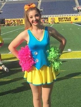Ruidoso High School cheerleader Lindsey Thomas was chosen to perform in the Citrus Bowl  All American Halftime Show on New Year's Day in Orlando, Fla.