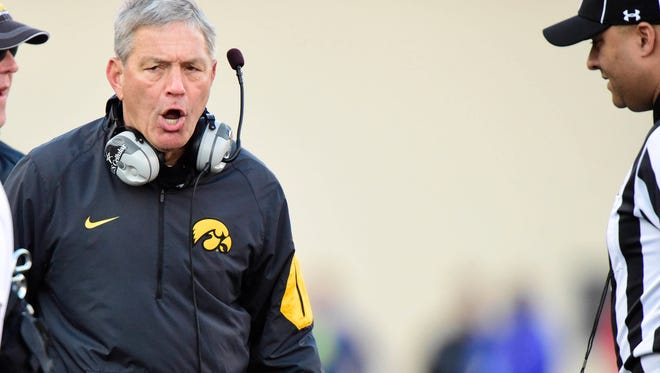 Coach Kirk Ferentz, Hawkeyes will be looking for first 10-0 start in school history on Saturday.