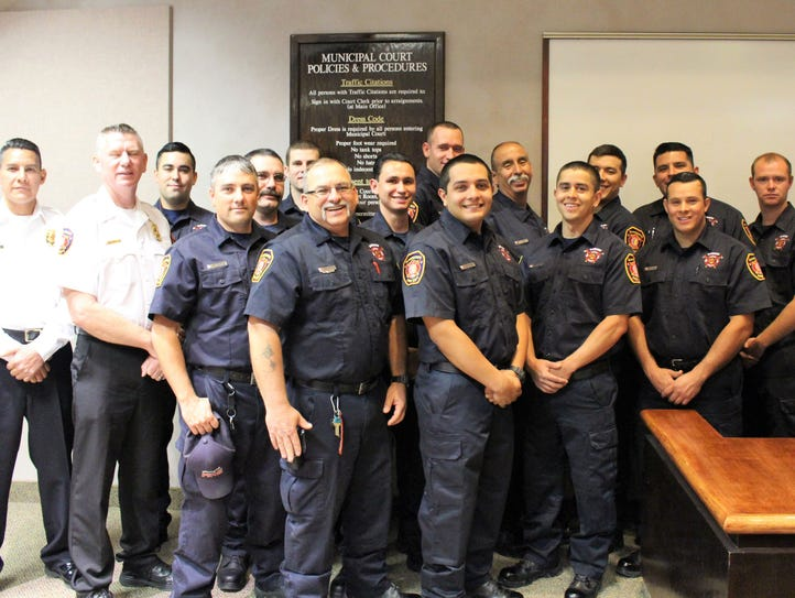 The Alamogordo Fire Department stands together after