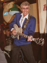 Rock 'n' roll pioneer Carl Perkins is shown in this Jan. 21, 1992, photo.