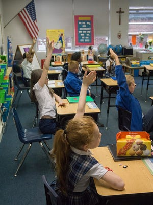Second grade is taught by Judy Rausch at St. Mary School in Wayne.