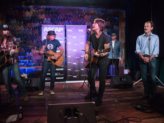 Jaren Johnston, Jeffrey Steele, Keith Urban and Tom