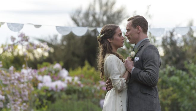 """Michael Fassbender and Alicia Vikander in """"The Light Between Oceans."""" The movie opens Friday at Regal West Manchester Stadium 13."""