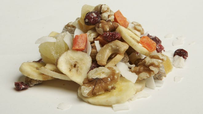 Trail mix is among various healthy items for children's lunch boxes.