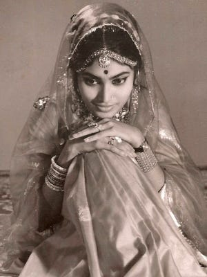 """Habiba Shaw, a naturalized American who is originally from Bangladesh - and seen here as a bride at age 19 - wrote a memoir, """"Marks Behind the Stones."""" Shaw lived in Montgomery for years before moving to Georgia."""