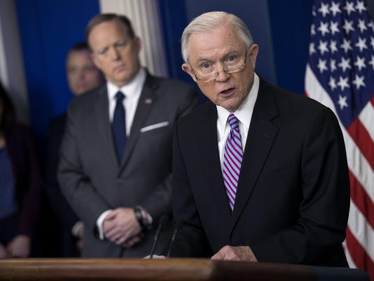 Attorney General Sessions delivers remarks on immigration at the White House daily briefing