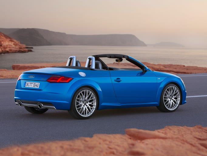 The 2016 Audi TT with its top down