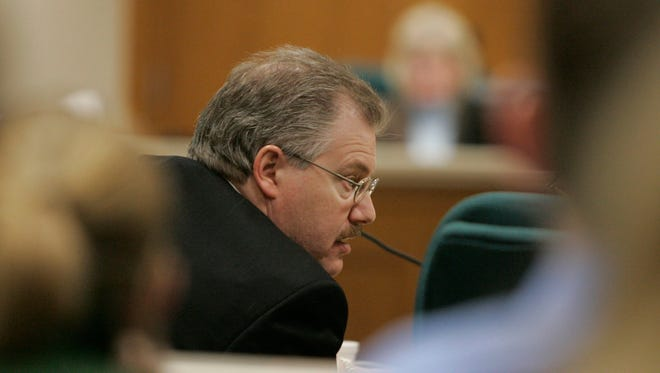 Calumet County District Attorney Ken Kratz in the courtroom at the Calumet County Courthouse during the second day of the Steven Avery trial on Feb. 13, 2007 in Chilton.