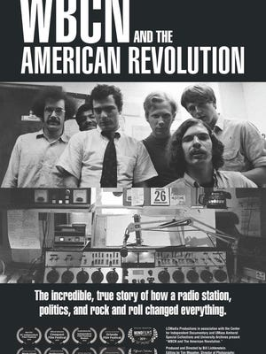 "Flyer for the documentary ""WBCN and the American Revolution."""