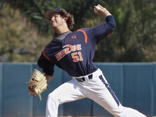 Left-hander Max Green led Pepperdine in appearances a sophomore (23), but appeared in just 12 games last season because of a suspension.