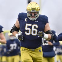 Colts GM  Chris Ballard visits Notre Dame pro day to watch Quenton Nelson