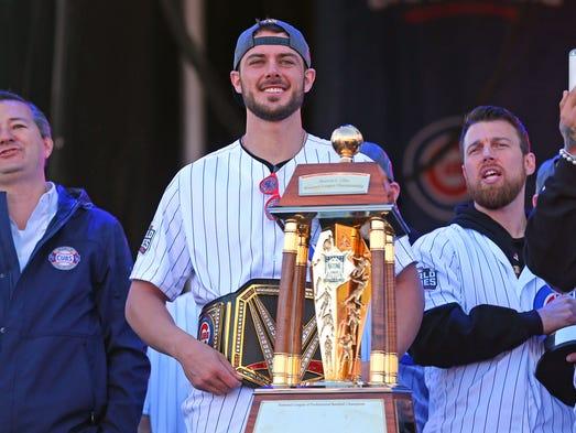 Chicago Cubs third baseman Kris Bryant during the World