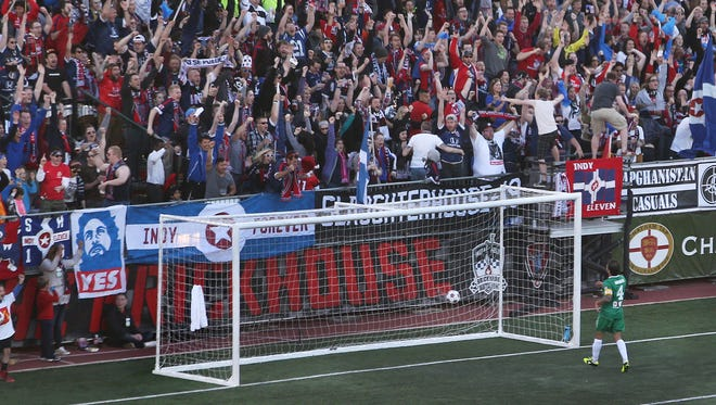 An Indy Eleven game at Carroll Stadium this season.
