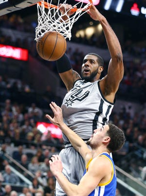 LaMarcus Aldridge scored a game-high 26 points for the Spurs.