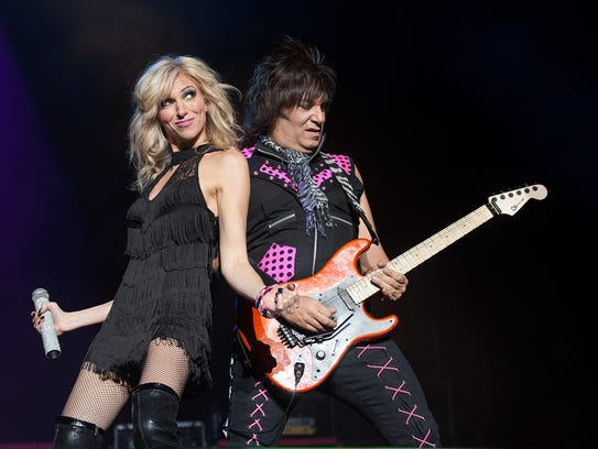 """Debbie Gibson performs during the """"I Want My 80s"""" concert at The Theater at Madison Square Garden in New York."""