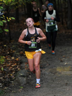 Buckeye Valley's Bailey Kreft competes at the  regional cross country meet this fall at Pickerington North High School. The Barons will leave the Mid Ohio Athletic Conference, likely for the 2019-20 season.