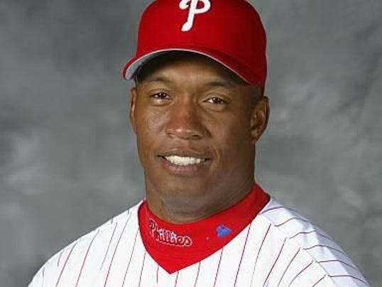 Former MLB player at baseball clinic PHOTO CAPTION