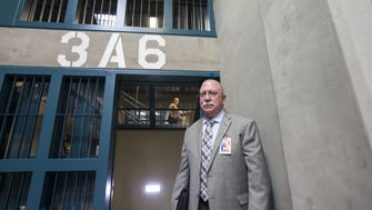 Arizona Department of Corrections Director Charles Ryan gives a media tour of the Lewis Prison Complex in Buckeye on Nov. 7, 2014.