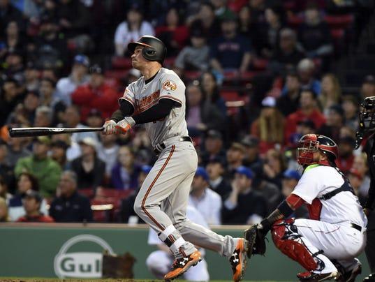 USP MLB: BALTIMORE ORIOLES AT BOSTON RED SOX S BBA BOS BAL USA MA