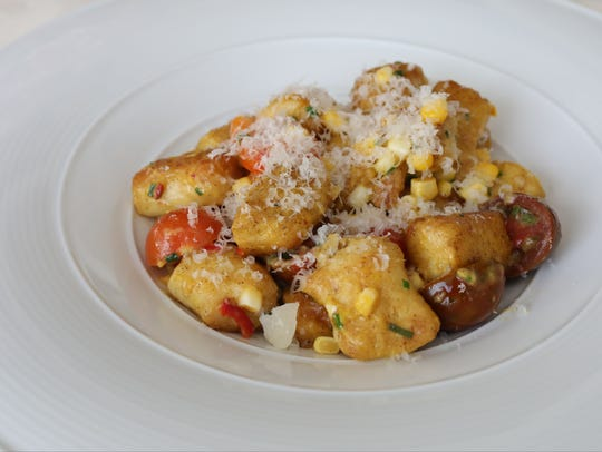 The Parisian Gnocchi with summer corn and heirloom