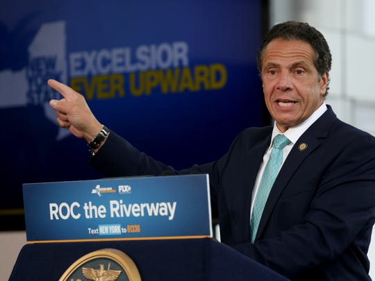 New York Governor Andrew Cuomo announces fifty million dollars in funding to redevelop the the Genesee riverfront.