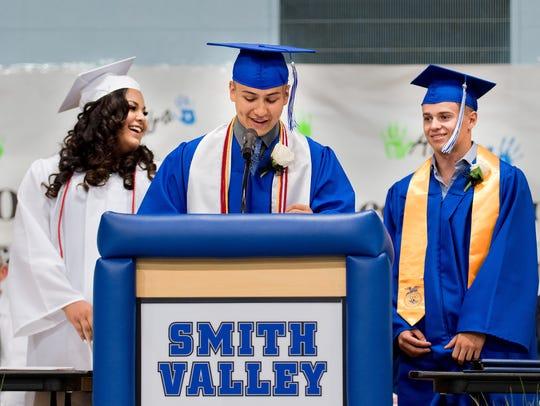 Graduating seniors Perla Castaneda, Yoni Covarrubias,